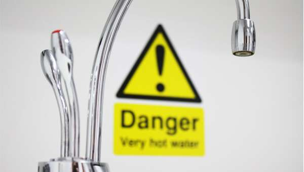 Danger - Very Hot Water